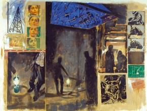 Αντιγόν, ακρυλικό σε καμβά, 260x330 cm, 2001 Antigoni, acrylic on cnvas, 260x330 cm, 2001
