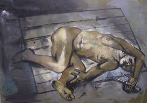 Βασανιστήριο, λάδι σε καμβά 110x130 cm, 2010 Torture, oil on canvas, 110x130 cm, 2010