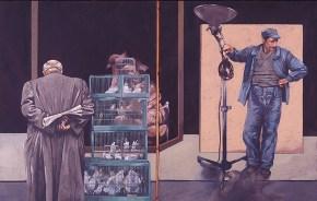 Εγκαίνια, λάδι σε καμβά, 115x180 cm, 1978