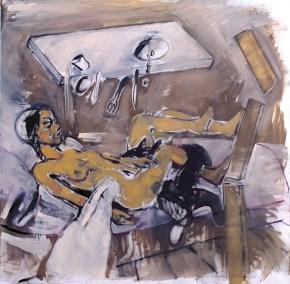 Ημιτελής οργασμός, λάδι σε καμβά, 100x100 cm, 2010 Unfinished orgasm, oil on canvas, 100x100 cm, 2010
