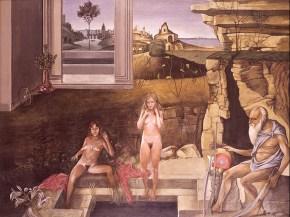 Θοδωρής γέρων, ακρυλικό σε καμβά, 110x160 cm, 1975