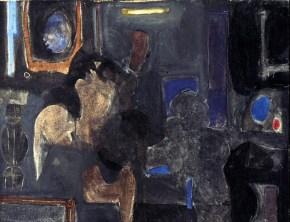 Καθρέφτης, ακρυλικό σε καμβά, 45x55 cm, 1965