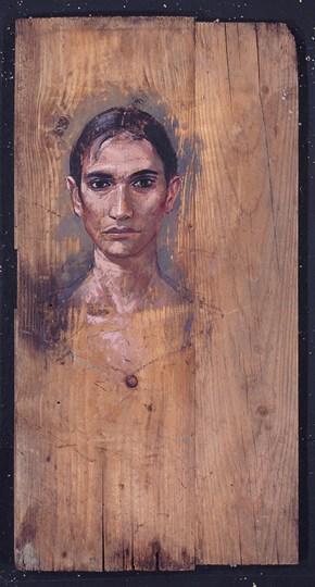 Κατερίνα, λάδι σε ξύλο, 110x50 cm, 1994