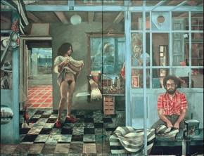 Καφενείο Βερμέερ ΙΙ, ακρυλικό σε καμβά, 122x202 cm, 1976
