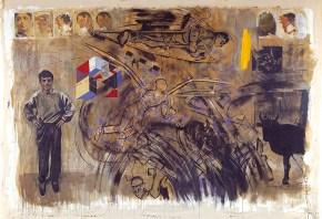 Λαβύρινθος ΙΙ, ακρυλικό σε καμβά, 260x330 cm, 2001 Labyrinth Ii, acrylic on canvas, 260x330 cm, 2001