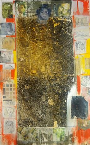 Μενίδι, ακρυλικό σε καμβά, 230x160 cm 2001 Menidi, acrylic on canvas, 230x160 cm 2001