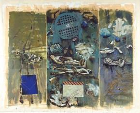 Ναυάγιο, ακρυλικό σε καμβά, 260x330 cm, 2001 Shipwreck, acrylic on canvas, 260x330 cm, 2001