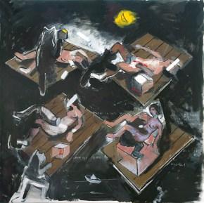 Ναυάγιο του Καββαδία, λάδι σε καμβά, 15x150 cm, 2009 Kavvadias' s Shipwreck, oil on canvas, 15x150 cm, 2009