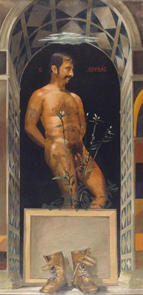 Ο Λουκάς, λάδι σε καμβά, 151x76 cm, 1978