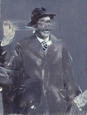Πολιτικός που χαιρετά, λάδι σε καμβά, 150x100 cm 1968