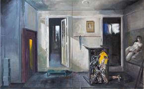 Το ατελιέ, λάδι σε καμβά, 120x100 cm, 2002 The studio, oil on canvas, 100x160 cm, 2009