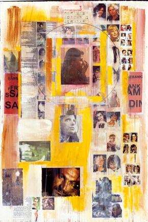 Υλικό Βαλμπόνα, ακρυλικό σε χαρτί, 150x100 cm, 2001 Material Valbona, acrylic on paper, 150x100 cm, 2001