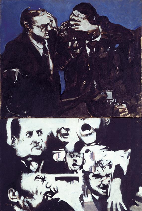 '68, oil on canvas, 120x70 cm 1968