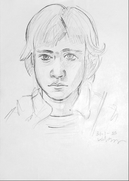 Aris III, pencil on paper, 35x20 cm, 1983