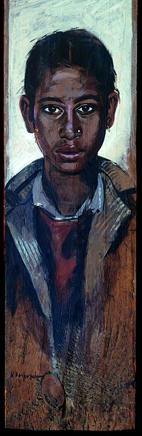 Astasia, oil on wood, 50x20 cm, 1998