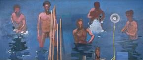 Bathers II, oil on wood 100 x 280 cm, 1980