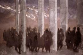 Crowd, oil on canvas, 70x100 cm, 1988