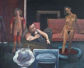 Dream of an antique shopekeeper-Marat oil on canvas,, 110x150 cm 1979