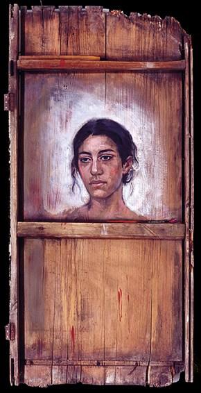 Eva, oil on wood, 110x50 cm, 1994