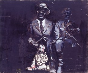 Father-son, oil on canvas, 60x80 cm, 1967