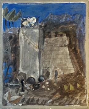 Funerary, acrylic on canvas, 50x35 cm, 1964
