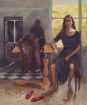 Interior I, oil on canvas, 170x140 cm, 1987