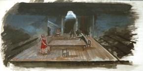 King Lear, tempera on paper, 30x40 cm, Art Theatre Karolos Koun, 2002