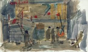 Man is man II, tempera on paper, 30x40 cm, Art Theatre Karolos Koun, 1989