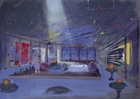 Minni the innocent, acrylic on paper, 30x40 cm, Art Theatre Karolos Koun, 1990