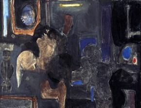 Mirror, acrylic, 45x55 cm, 1965