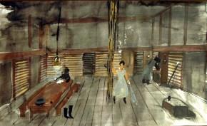 Miss Julia I, tempera on paper, 30x40 cm, Art Theatre Karolos Koun, 1992