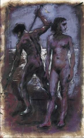 Moon I, oil on canvas, 120x80 cm, 1994