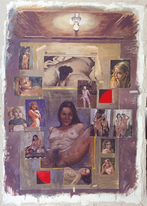 Nude, acrylic on canvas, 220x170 cm, 2000