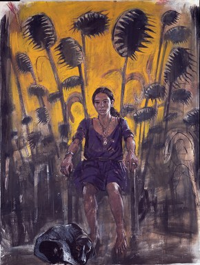 Ruth, tempera and oil on canvas, 200x150 cm, 1997