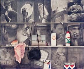 Selves with Roy Lichtenstein, acrylic on canvas, 100x120 cm, 1974
