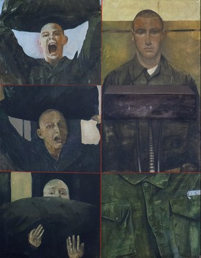 Soldier, oil on canvas, 100x70 cm, 1969