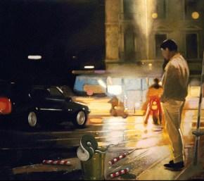 St-George at night, acrylic on canvas, 140x140 cm, 1987