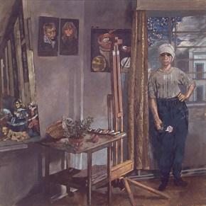Studio, oil on canvas, 122x122 cm, 1979