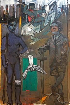 Telemachous, oil on canvas, 160x203 cm, 2013