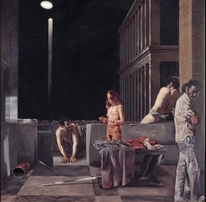 The mountain, oil on canvas, 130x130 cm, 1976