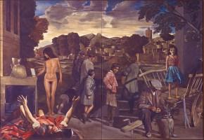 Three visions, oil on canvas, 125x180 cm, 1978