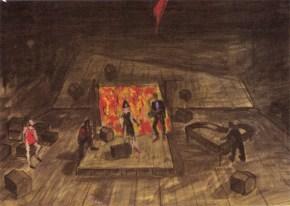 Transit ΙV, acrylic on paper, Arth Theatre Karolos Koun, 2005