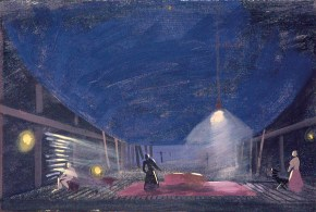 Vacationers II, oil on canvas, 35x50 cm, Art Theatre Karolos Koun, 1993