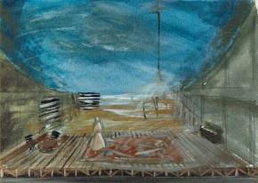Vacationers III, oil on canvas, 35x50 cm, Art Theatre Karolos Koun, 1993