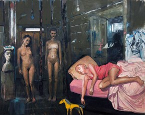 Young Dine, oil on canvas, 150x200 cm, 2009
