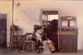 Zeibek dance, acrylic on canvas, 110x160, 1975