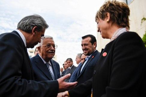 Με τον Πρόεδρο της Παλαιστινιακής Αρχής, κ. Μαχμούτ Αμπάς (26-11-2015)