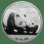 1 oz silver panda obverse