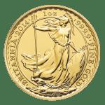 gold britannia coin 24 carats reverse