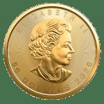 2020 Canadian gold Maple Leaf obverse